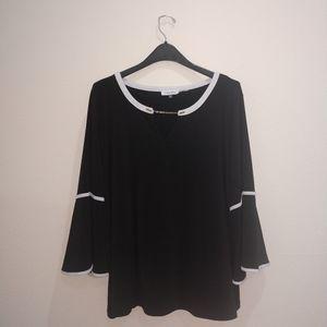 Calvin Klein Blouse Size 2X 2G 2TG Black